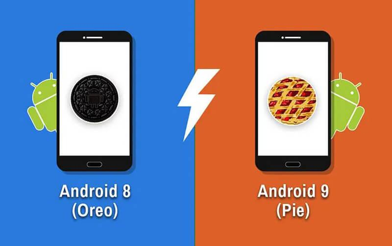 Android 9 Pie vs Android 8 Oreo