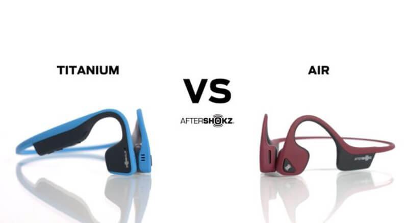 How Are AfterShokz Trekz Air Vs Titanium Different