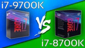 Intel Core i7 8700k vs i7 9700k