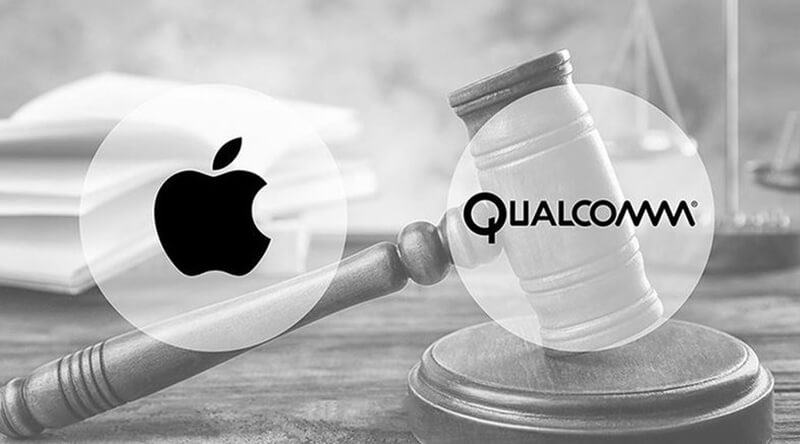 What is happening between Apple and Qualcomm out of the USA