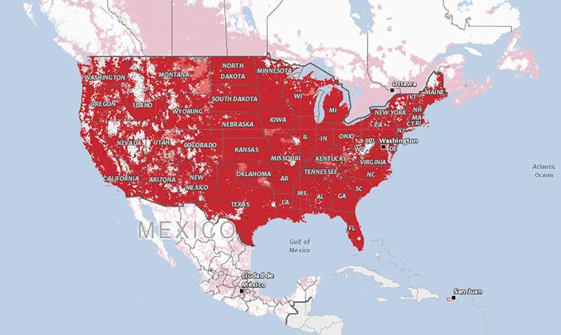 verizon coverages map