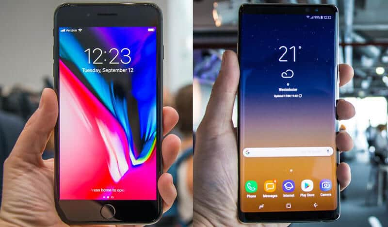 Apple iPhone 8 Plus vs Samsung Galaxy Notes 8