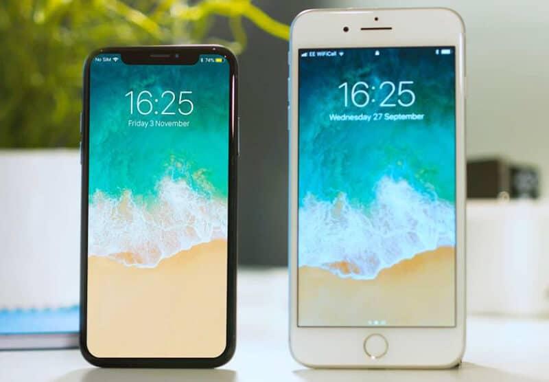 Apple's iPhone 8 vs iPhone X Comparison