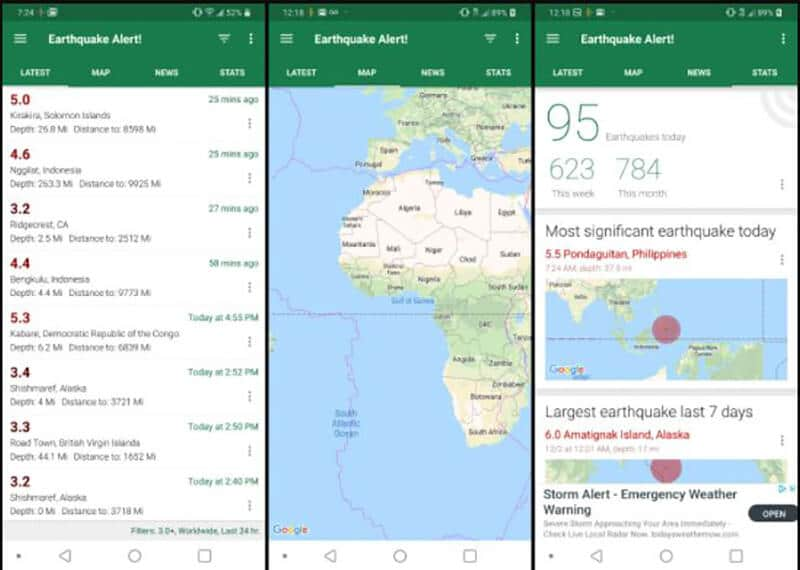 Best Earthquake Android Apps In 2020 [ TOP 12 CHOICES]