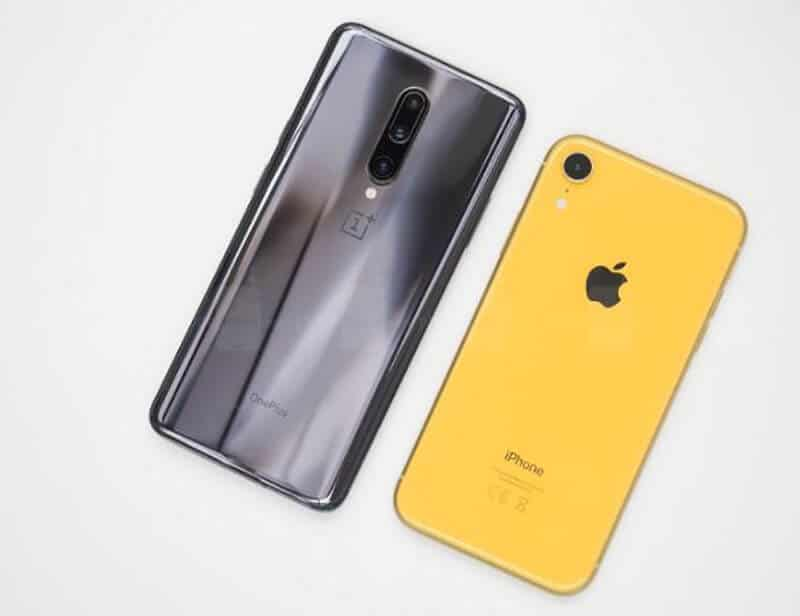 Comparing OnePlus 7 Pro vs iPhone XR