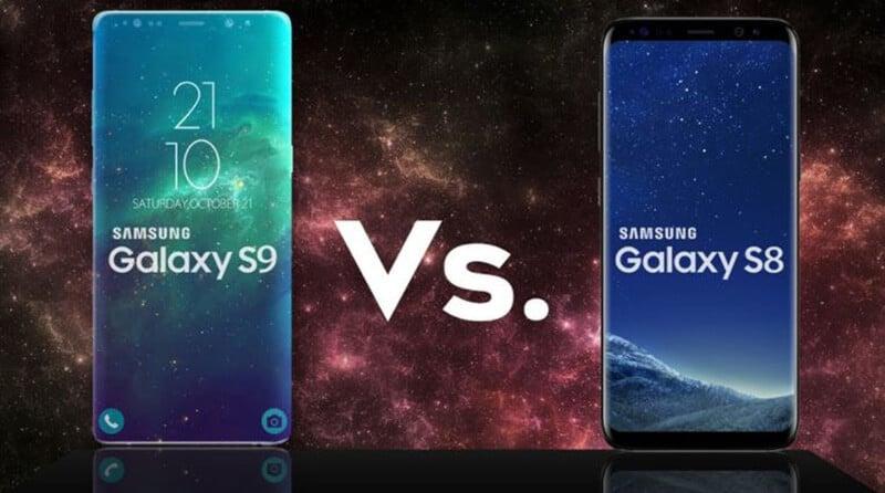 Comparing Samsung Galaxy S9 vs Galaxy S8