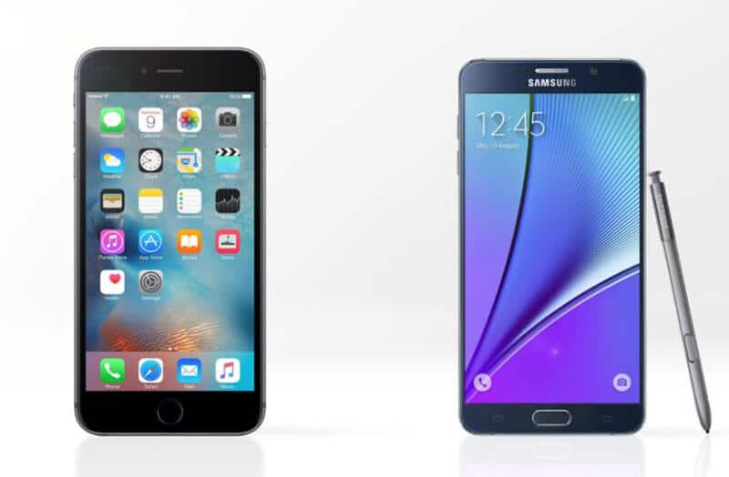 Comparing iPhone 6S Plus vs Samsung Galaxy Note 5