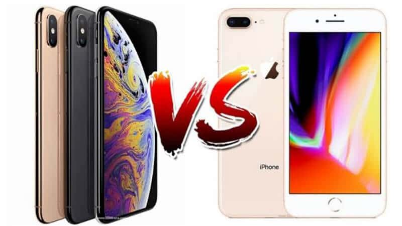 Comparing iPhone 8 Plus vs iPhone XS Max