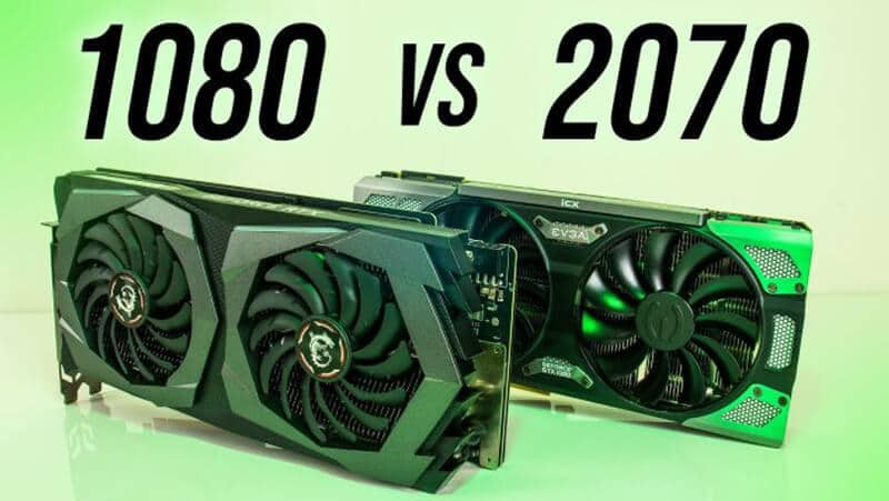 Differences between RTX 2070 and GTX 1080