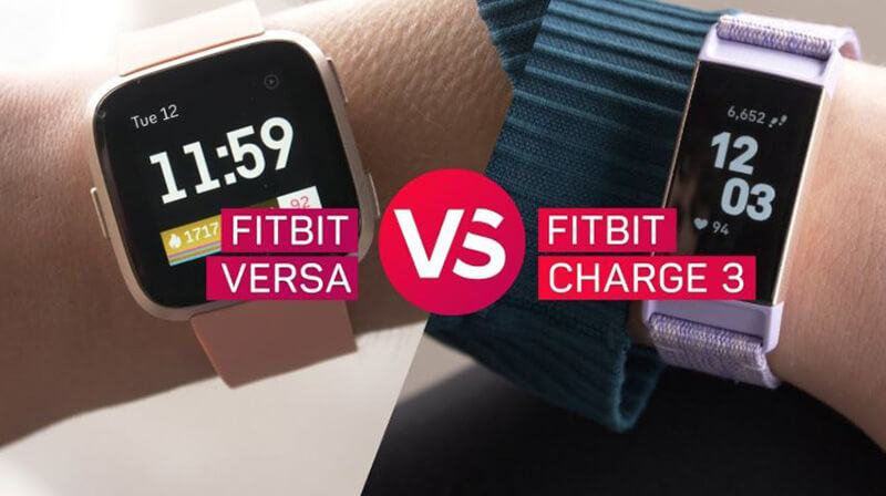 Fitbit Charge 3 vs Fitbit Versa