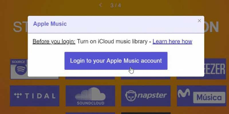 How to log-in to Apple Music account