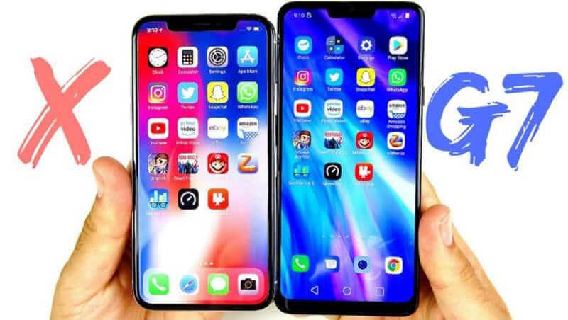 LG G7 ThinQ vs iPhone X Comparison