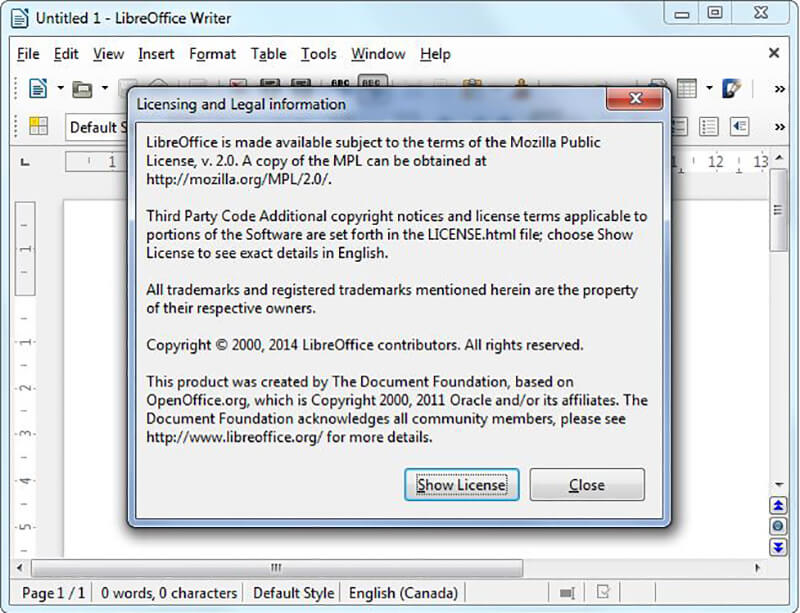 LibreOffice vs OpenOffice License Situation