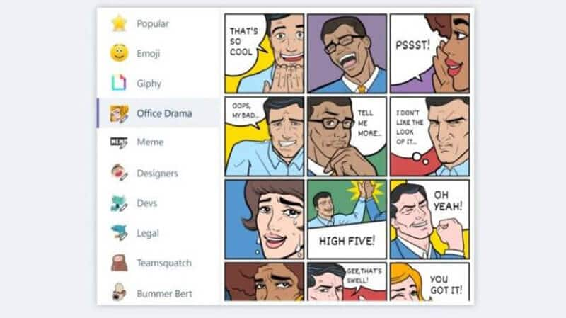 Microsoft Teams vs Slack Emoji, Memes, and Stickers