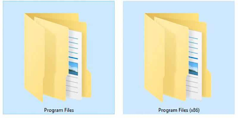 Program Files and Program Files x86