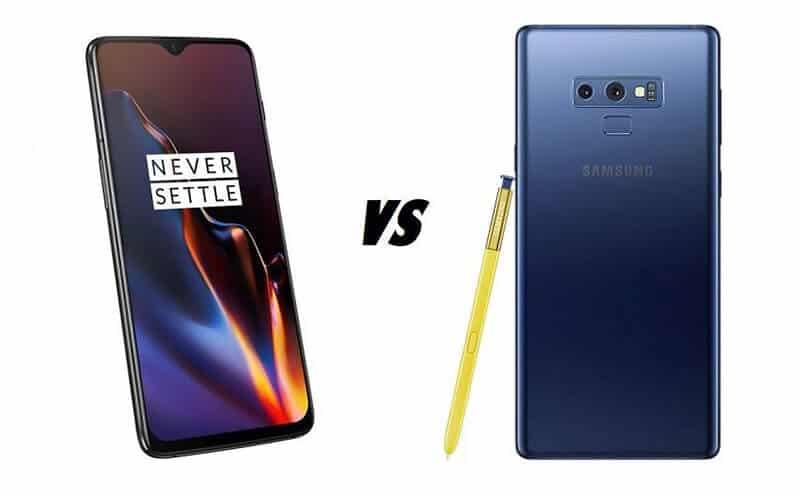 Samsung Galaxy Note 9 vs OnePlus 6T Comparison