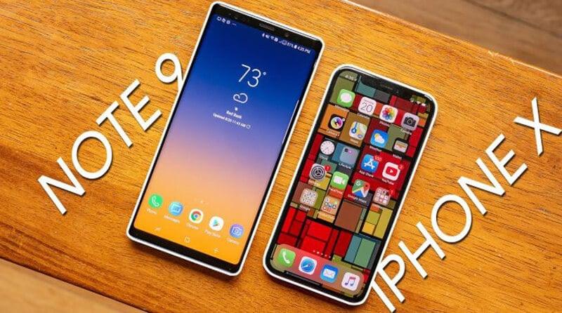 Samsung Galaxy Notes 9 vs Apple iPhone X