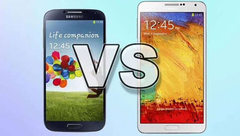 Samsung Galaxy S4 vs Galaxy Note 3