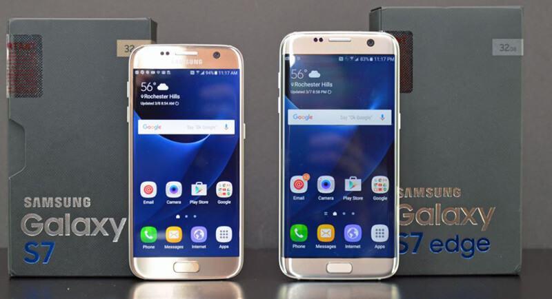 Samsung Galaxy S7 vs Galaxy S7 Edge Comparison