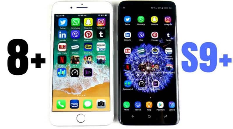 Samsung Galaxy S9 Plus vs iPhone 8 Plus