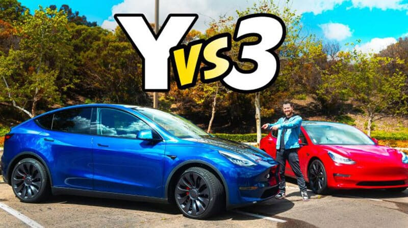 Tesla Model Y vs Tesla Model 3 Performance