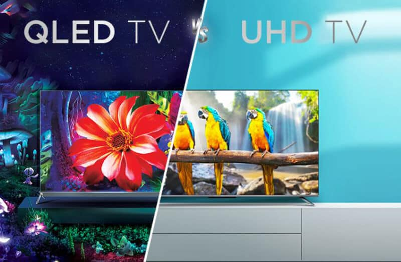 What is the distinction between QLED vs UHD