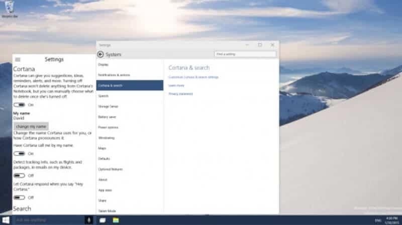 Windows 10 vs Windows 8 Cortana