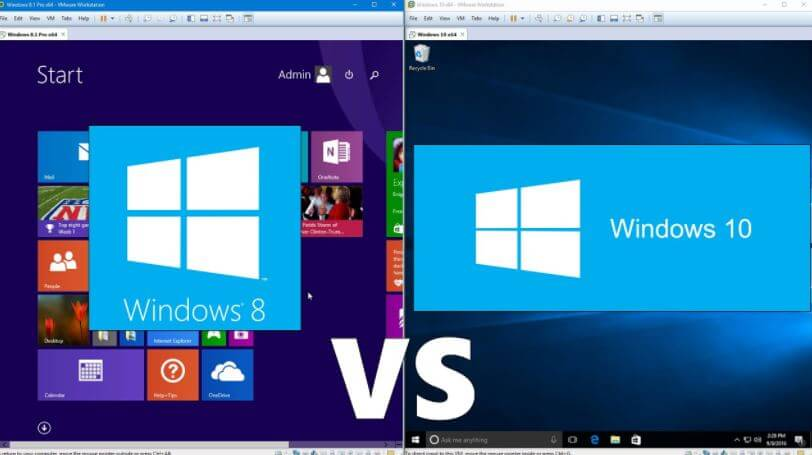 Windows 10 vs Windows 8 Differences