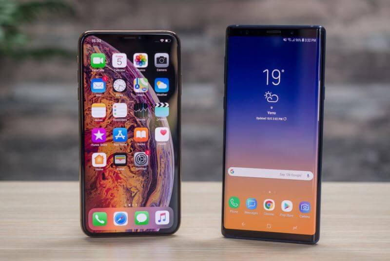 iPhone XS Max vs Samsung Galaxy Note 9Comparison